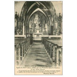carte postale ancienne 50 BOUILLON. L'Eglise avec Pommier dans son Clocher