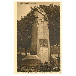 carte postale ancienne 50 BRICQUEBEC. Monument Frères Frémine