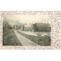 carte postale ancienne 50 CHATEAU DE FLAMANVILLE 1904