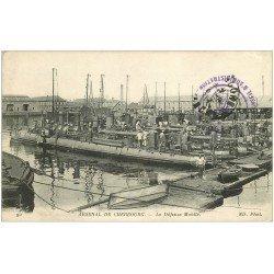 carte postale ancienne 50 CHERBOURG. Arsenal. La Défense Mobile 1917. Torpilleurs et Contre-Torpilleurs