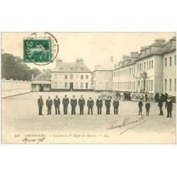 carte postale ancienne 50 CHERBOURG. Caserne 1° Dépôt des Marins 1908