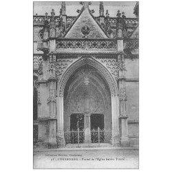 carte postale ancienne 50 CHERBOURG. Eglise Sainte-Trinité Portail