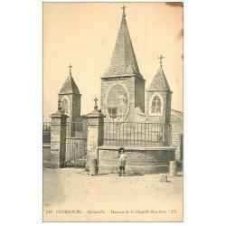 carte postale ancienne 50 CHERBOURG. Haineville. Hameau Chapelle Sainte-Anne