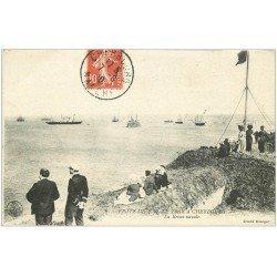carte postale ancienne 50 CHERBOURG. La Revue Navale 1910