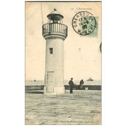 carte postale ancienne 50 CHERBOURG. Le Phare 1907