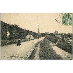 carte postale ancienne 50 COUTANCES. Aqueduc Romain 1907