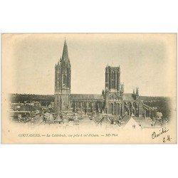 carte postale ancienne 50 COUTANCES. Cathédrale 1902