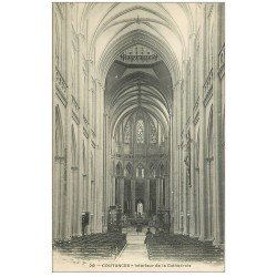 carte postale ancienne 50 COUTANCES. Cathédrale intérieur