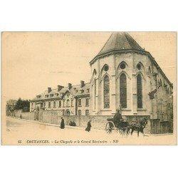 carte postale ancienne 50 COUTANCES. Chapelle Grand Séminaire 1933