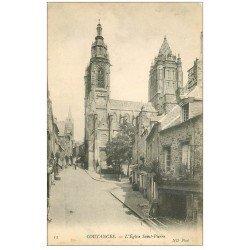 carte postale ancienne 50 COUTANCES. Eglise Saint-Pierre