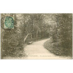 carte postale ancienne 50 COUTANCES. Jardin Public 1907