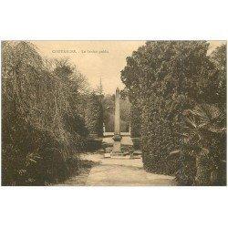 carte postale ancienne 50 COUTANCES. Jardin Public 1931
