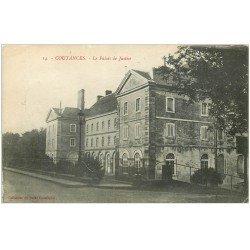 carte postale ancienne 50 COUTANCES. Palais de Justice 1917