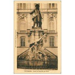 carte postale ancienne 50 COUTANCES. Statue Tourville vers 1931