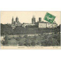 carte postale ancienne 50 COUTANCES. Vue 1919