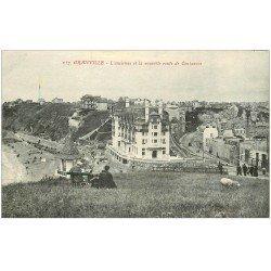 carte postale ancienne 50 GRANVILLE. Ancienne et nouvelle Route de Coutances