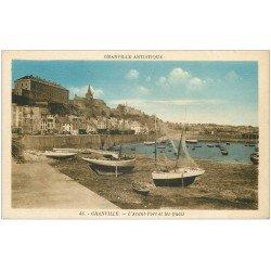 carte postale ancienne 50 GRANVILLE. Avant-Port et Quais