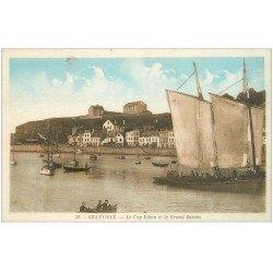 carte postale ancienne 50 GRANVILLE. Cap Lihou et Grand Bassin bateaux de Pêcheurs
