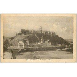 carte postale ancienne 50 GRANVILLE. Casino et Roc 1947