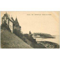 carte postale ancienne 50 GRANVILLE. Chalets de la Falaise