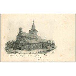 carte postale ancienne 50 GRANVILLE. Eglise Notre-Dame 1901