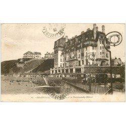 carte postale ancienne 50 GRANVILLE. Falaises et Normandy-Hôtel 1932