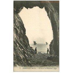 carte postale ancienne 50 GRANVILLE. Grotte du Cap-Lehou