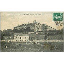 carte postale ancienne 50 GRANVILLE. Hôpital Civil et Militaire 1909