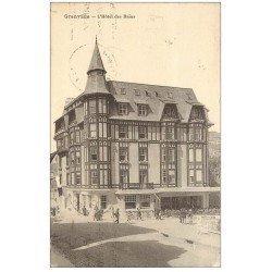 carte postale ancienne 50 GRANVILLE. Hôtel des Bains 1928