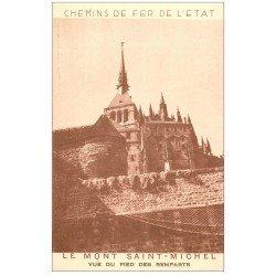 carte postale ancienne 50 LE MONT SAINT-MICHEL. Chemin de Fer de l'Etat