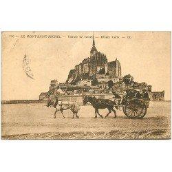 carte postale ancienne 50 LE MONT SAINT-MICHEL. Transports la voiture de Genets 1927