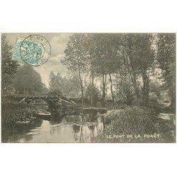 carte postale ancienne 50 LE PONT DE LA FORET 1906