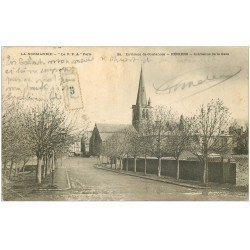 carte postale ancienne 50 PERIERS. Avenue de la Gare 1905