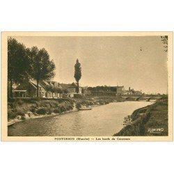 carte postale ancienne 50 PONTORSON. Bords du Couesnon