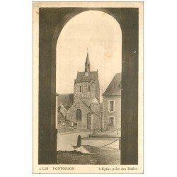 carte postale ancienne 50 PONTORSON. Eglise prise des Halles
