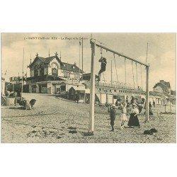 carte postale ancienne 50 SAINT-PAIR-SUR-MER. Jeux de cordes sur la Plage