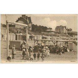 carte postale ancienne 50 SAINT-PAIR-SUR-MER. La Balançoire