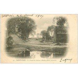 carte postale ancienne 50 SAINT-PAIR-SUR-MER. La Ferme du Château 1904