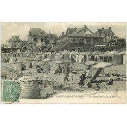 carte postale ancienne 50 SAINT-PAIR-SUR-MER. La Plage et Casino