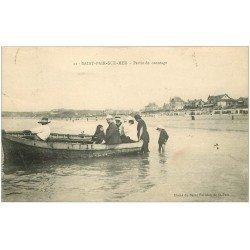 carte postale ancienne 50 SAINT-PAIR-SUR-MER. Partie de Canotage 1922