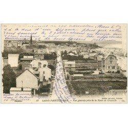 carte postale ancienne 50 SAINT-PAIR-SUR-MER. Route de Granville