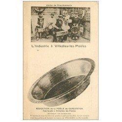 carte postale ancienne 50 VILLEDIEU-LES-PEOLES. Atelier de Chaudronnerie Industrie
