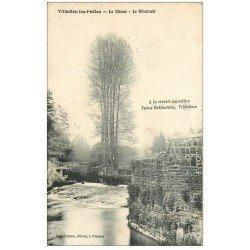 carte postale ancienne 50 VILLEDIEU-LES-PEOLES. Le Déversoir sur Sienne 1924