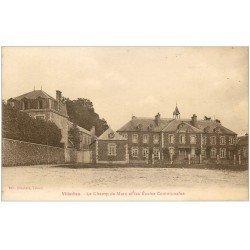 carte postale ancienne 50 VILLEDIEU-LES-PEOLES. Mairie et Imprimerie Librairie