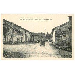carte postale ancienne 52 BRACHAY. Centre Route de Joinville
