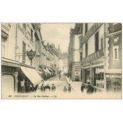 carte postale ancienne 52 CHAUMONT. Rue Pasteur 1917
