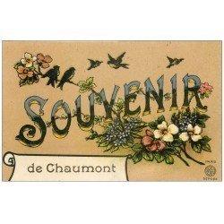 carte postale ancienne 52 CHAUMONT. Souvenir 1914