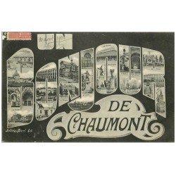 carte postale ancienne 52 CHAUMONT. Un Bonjour 1906