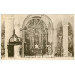 carte postale ancienne 52 DOULAINCOURT. Choeur Eglise Saint-Martin