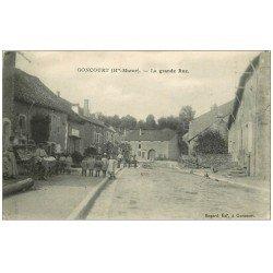 carte postale ancienne 52 GONCOURT. La Grande Rue 1916